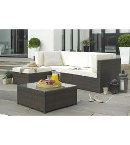 Rattan-Effect Corner Lounge Set - Was £649.99 - Now £212.99 + £35 delivery from Studio