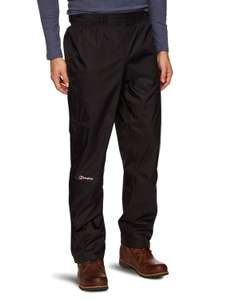 Berghaus Men's Deluge Overtrousers - Black (Large/short) - was £50 now £23.18 @ Amazon