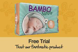Free Trial Pack Of Bambo Nature Eco Nappies (Various Sizes) @ The Conscious Parent