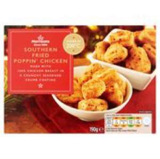 Morrisons southern fried popcorn chicken. 20p online.