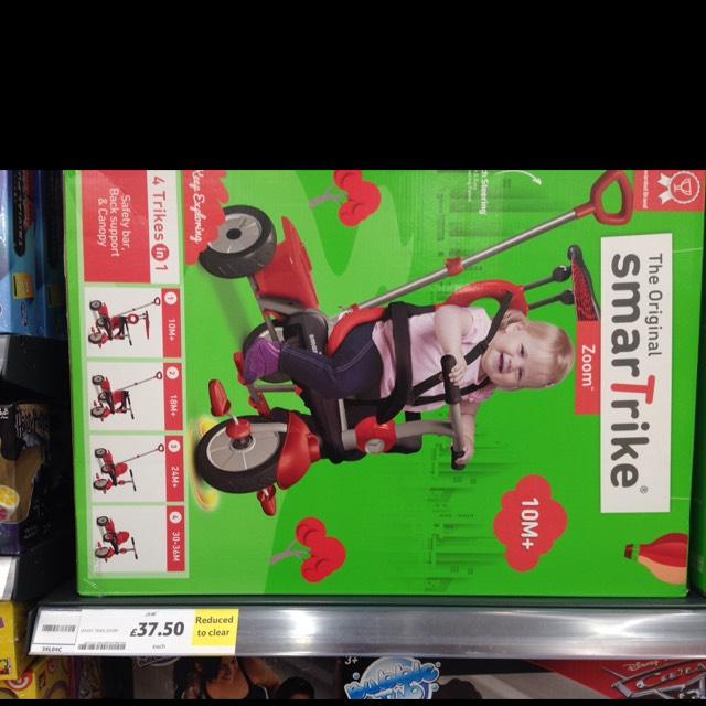 Smart Trike Zoom £75 down to £37.50 Tesco Kingston Park