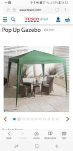Tesco pop-up gazebo, green, £19.50 was £45 (in-store Tesco Hanley)