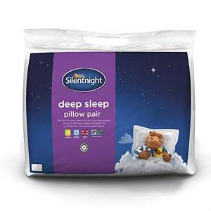 Silentnight Deep Sleep Pillow - White, Pack of 2 for £8 prime / £12.75 non prime @ Amazon