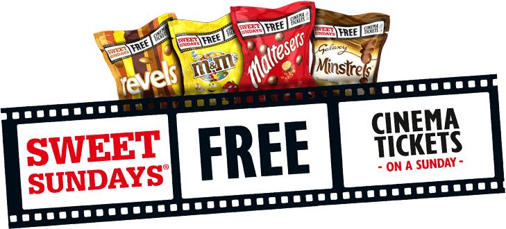 Large sharing bags Maltesers Revells Minstrels M&Ms £1.50 @ Sainsburys + Cinema Ticket - Sweet Sundays