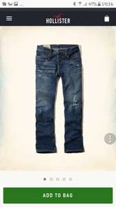 Hollister mens jeans from 6.99 and free delivery :)