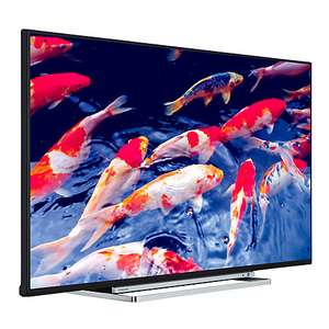 """Toshiba 49U6763DB LED 4K Ultra HD Smart TV, 49"""" with Built-In Wi-Fi, Freeview HD & Freeview Play, Black@ John Lewis"""
