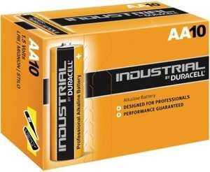 Duracell Industrial AA Standard Alkaline Batteries (Pack of 10) - £3.05 delivered, eBay d1llh