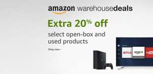 Amazon Warehouse Deals - extra 20% off select open-box and used products