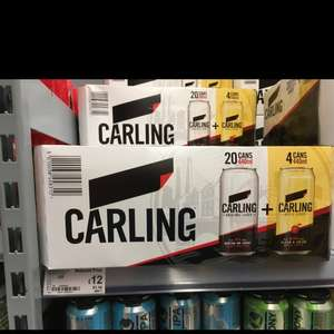 Carling cans x20 including x4 carling cider @ asda - £12