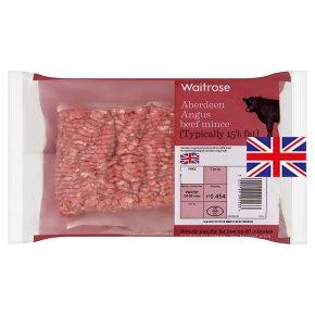 Waitrose Aberdeen Angus beef mince, 15% fat, - £2.25