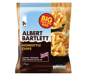 Albert Bartlett Homestyle Frozen Chips (1.5Kg) £1.99 Farmfoods