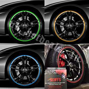 SCUFFS by Rimblades Car Tuning Alloy Wheel Rim Protectors Tire Guard Line Rubber £27.37 uk_hotdeals_4u / Ebay