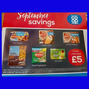 New Co-Op Frozen Meal deal £5 OR £4.50 at selected stores with NUS Card