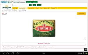 Bertolli butter 250g for £1 in morrisons