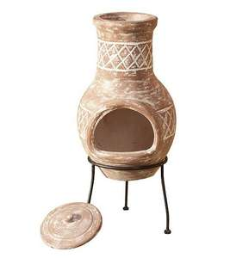 La Hacienda Kairos Small Clay Chimenea £21 @ Tesco (Free C&C)