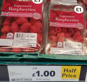 Tesco Supersweet Raspberries £1