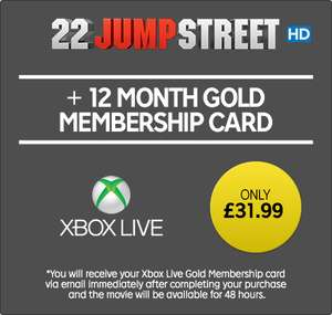 22 Jump Street HD + Xbox Live 12m Membership £31.99 (EXPIRED) / The Shallows HD + Google Chromecast £22.99 @ Rakuten TV