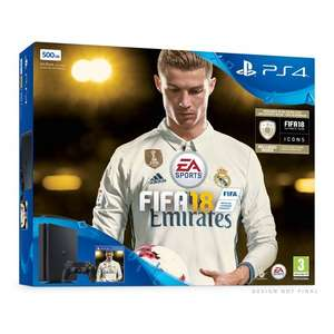 Sony PlayStation 4 500 GB FIFA18 Ronaldo Edition (3 Days Early Access Plus FIFA 18 Ultimate Team Icons and Rare Player Pack) £229.99 / 1 TB £259.99 @ Amazon