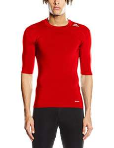 Adidas Men's Tech Fit Base RED T-Shirt Base layer from £9.15 PRIME / £13.90 non prime @ Amazon
