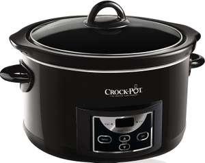 Dealof th Day Crock-pot 4.7l Gloss Black Digital Countdown Slow Cooker £31.99 @ Amazon
