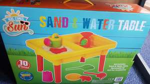 Sand & water table £6.99 B&M with lid and accessories. In store only