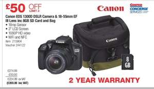 Costco - Canon eos 1300d DSLR Deal - £268.96