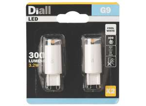G9 LED Capsule Light Bulb 300 Lumen 3.2W A++ Warm or Cool 2-PACK for £2.19 @ Screwfix (Free C&C)