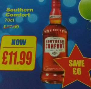 Southern Comfort 70cl £11.99 bargain booze