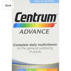 Centrum Advance Multivitamin Tablets, Pack of 100 - £5.50 (Prime) / £9.49 (non Prime) at Amazon