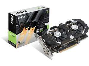 MSI GeForce GTX 1050 2GT OC 2GB GDDR5 Graphics Card £89.99 Novatech