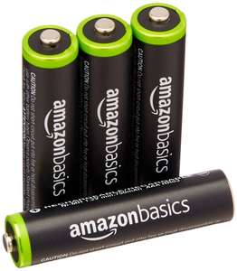 AmazonBasics AAA Pre-Charged Rechargeable Batteries 800 mAh £4.35 prime / £8.34 non prime @ Amazon UK Lightning Deal