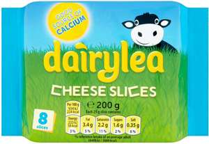 Dairylea & Dairylea Lighter Thick Slices (8 per pack - 200g) was £1.45 now £1.00 @ Asda