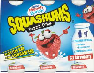 Munch Bunch Squashums Strawberry Drinks (6 x 90g) was £2.00 now 75p @ Morrisons