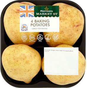 Baking Potatoes 4 per pack (Ideal for Jackets) was £1.00 now 50p @ Morrisons
