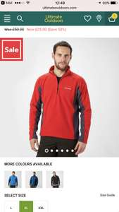 BERGHAUS MEN'S HARTSOP HALF-ZIP MICRO FLEECE £22.25 - ultimateoutdoors