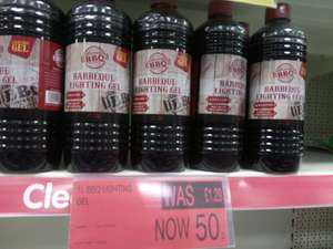 B&M Stores... Barbecue lighting Gel... 1 Litre just 50p reduced from £1.27