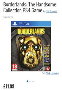 Borderlands: The Handsome Collection for PS4 £11.99 @ Argos