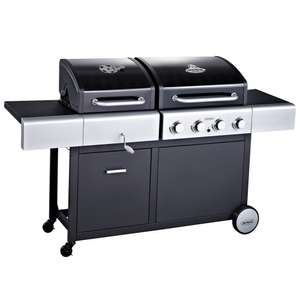 Outback Combi Hooded 4 Burner Gas and Charcoal BBQ Grill - £99 instore @ HOMEBASE.