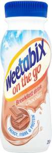 Weetabix on the Go Breakfast Drink - Banana / Chocolate / Strawberry / Vanilla (250ml) was £1.45 now 72p @ Tesco