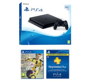 Sony PS4 Slim 500GB FIFA 17 & 1 Year PSN Subscription £229.99 at Argos