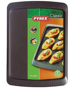 Pyrex Classic Non Stick Oven Tray 33X25cm for £3 (add on item) @ Amazon