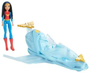 DC Comics Superhero Girls Dyn05 Wonder Woman And Invisible Jet £11.99 (Prime) £15.94 (Non-Prime) @ Amazon