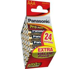 24 Panasonic Pro Power AAA Batteries from Argos £3.49