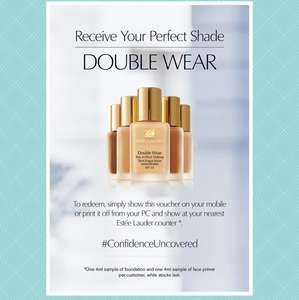 Free Estée Lauder foundation and face primer 4ml sample