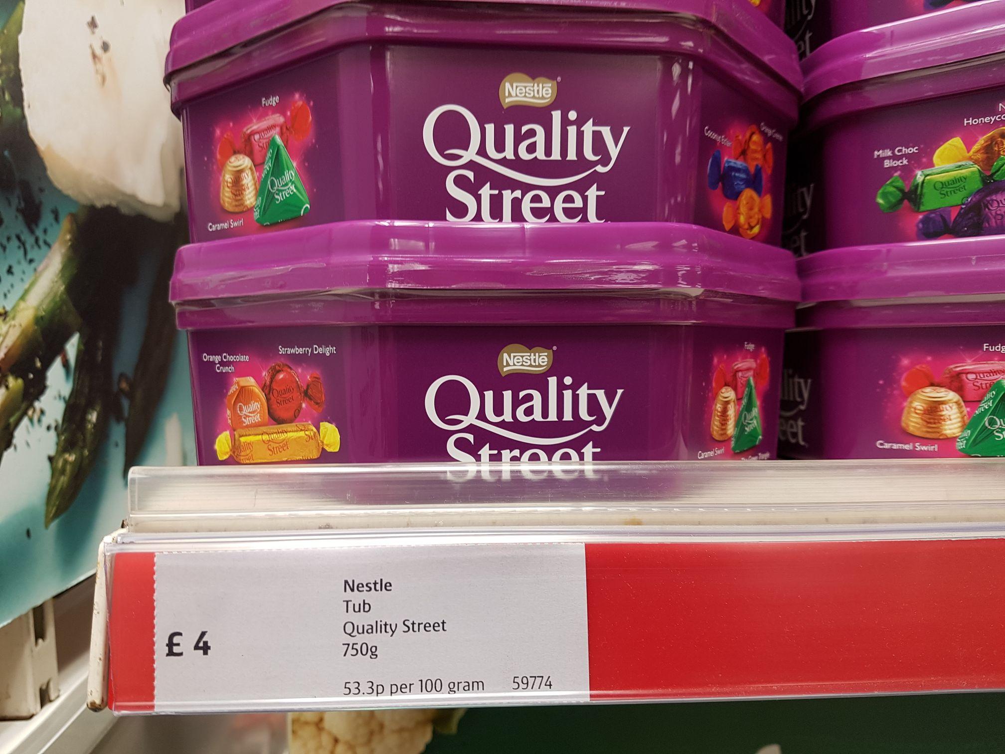 Quality Street 750g Tub £4 instore @ Iceland