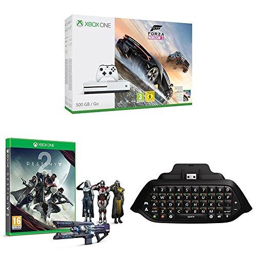 Xbox One S (500GB) with Forza Horizon 3 + Destiny 2 + Chatpad and Headset £209.99 @ Amazon
