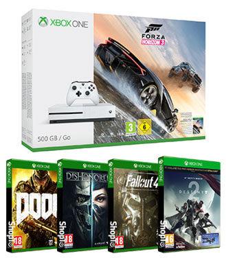 Xbox One S 500GB Forza Horizon 3 Bundle + Destiny 2 + Dishonored 2 + Doom + Fallout 4 (Inc Fallout 3) £199.85 @ ShopTo