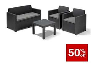 Wickes Keter Garden Furniture on offer + Extra 10% off on C&C orders over £75 - E.G - Alabama Lounge set now £98.99 C&C with code / Storage cube £19.99 / Chairs £9.99