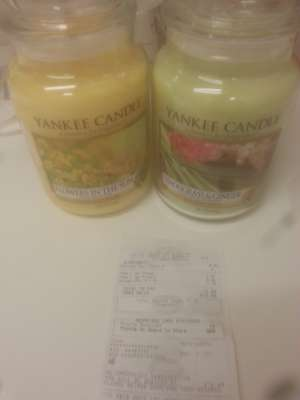 Yankee candles was £23.99 now £6.00 large / £5 medium @ Boots