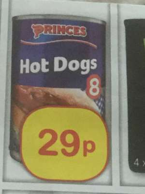8 princes hot dogs 29p @ Farmfoods
